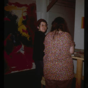 Judy Chicago and student